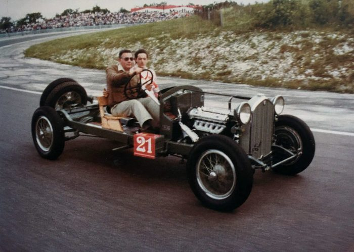 Dijon Prenois Autodrome,1981. Gigi and Checco Bonfanti on a 6C 1750 GTC, dated 1932.