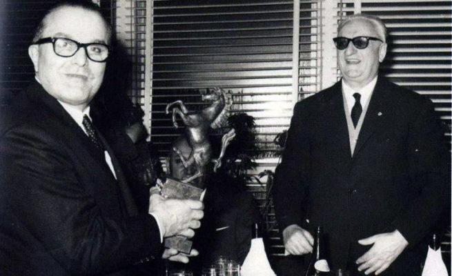 Luigi Chinetti with Enzo Ferrari.