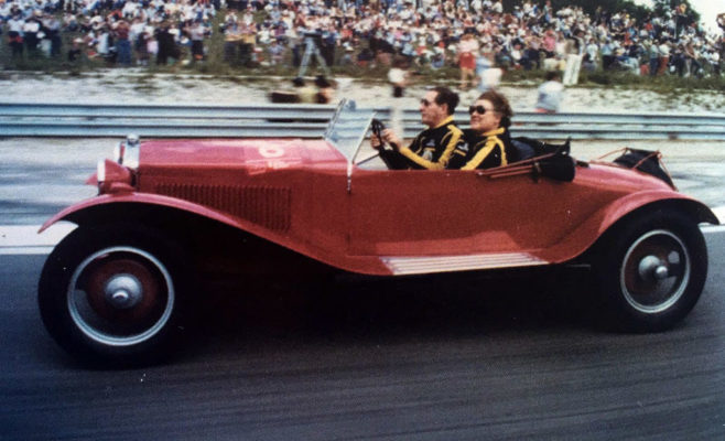 1968 Monza. Roy e Edna Slater on 6C 1500 dated 1928.